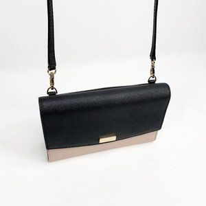 KATE SPADE Mini Crossbody Wallet Two Tone Black